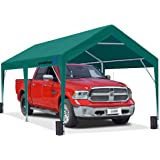 PEAKTOP OUTDOOR 10 x 20 ft Upgraded Heavy Duty Carport Car Canopy Portable Garage Tent Boat Shelter with Reinforced Triangula