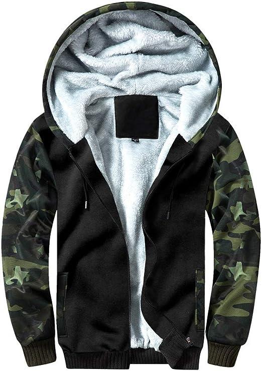 New Mens Sherpa Fur Lined Fleece Hoodie Winter Warm Work Hoody Jacket Coat Top