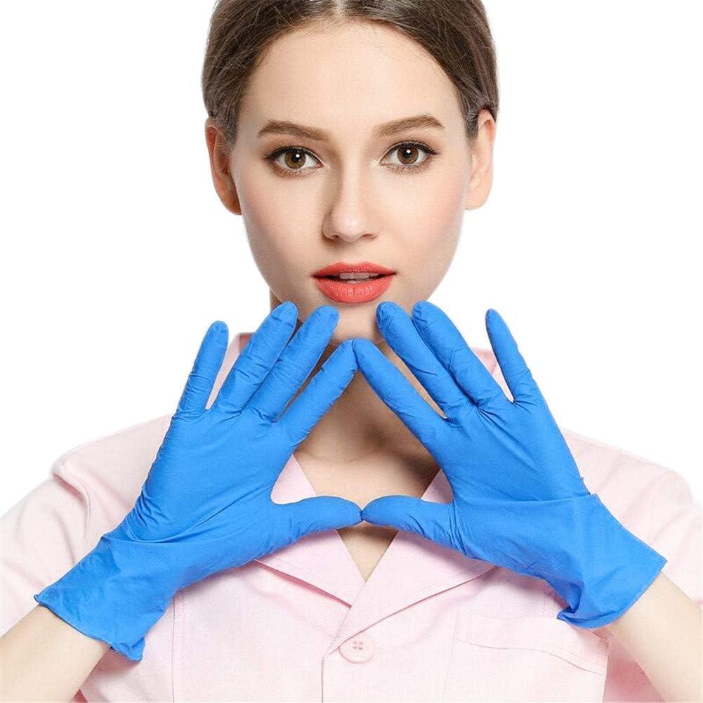 GULEHAY Mehrzweck-Einweghandschuhe Blau wiederverwendbar 20er-Packung mittlere Gr/ö/ße Handschuhe in Lebensmittelqualit/ät