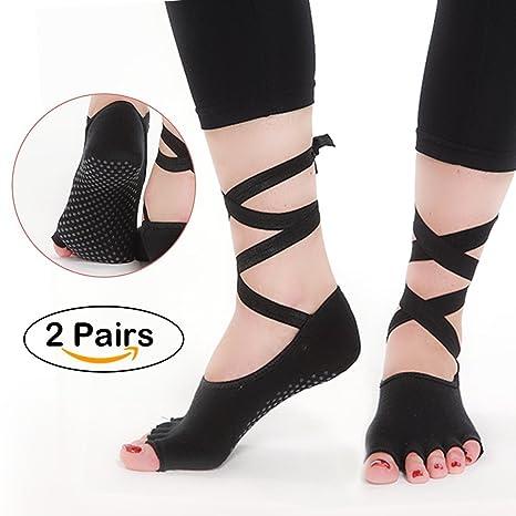 Calcetines de yoga antideslizante para mujeres Fitness ...