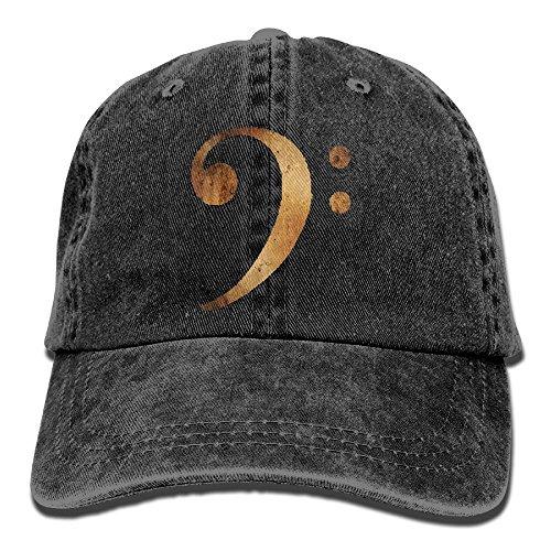 - Bass Clef Music Unisex Washed Twill Cotton Baseball Cap Vintage Adjustable Dad Hat