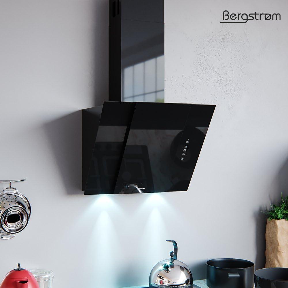 Bergström Campana extractora Bjoern Vidrio LED Campana de Pared Campana Inclinada de Cabeza Libre 60 cm: Amazon.es: Grandes electrodomésticos