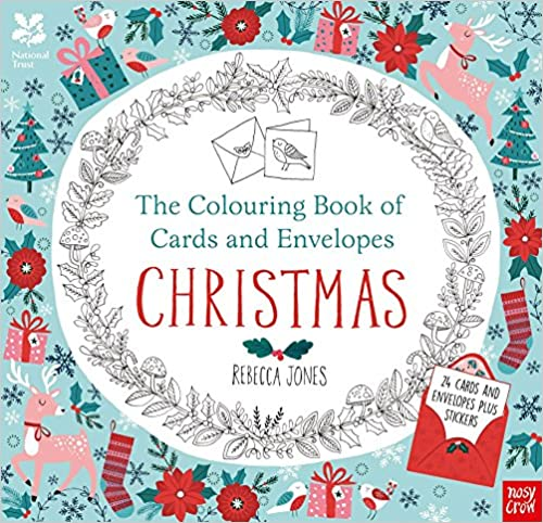 National Trust: The Colouring Book Of Cards And Envelopes   Christmas (Colouring Books Of Cards And Envelopes) by Amazon
