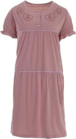 Camisa de Dormir para Mujer Ropa de Dormir Manga Largo Camis/ón