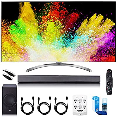 """LG 65"""" Super UHD 4K HDR Smart LED TV - 65SJ9500 w/LGSJ8 Sound Bar Bundle"""