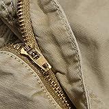 bddb807ee2 OCHENTA Men's Cotton Lesuire Multi Pockets Cargo Shorts khaki Size 36