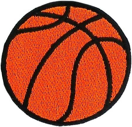 Parche bordado termoadhesivo con diseño de balón de baloncesto ...
