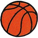 Patch ecusson brode applique ballon de basket basketball thermocollant