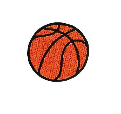 Parche bordado termoadhesivo con diseño de balón de baloncesto ... 6c110083a5121