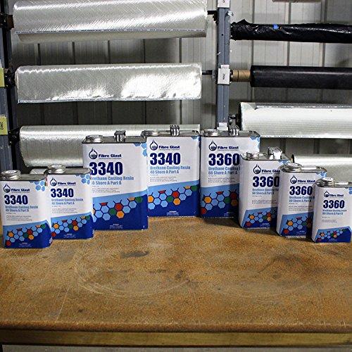 Fibre Glast - Urethane Casting Resin - 60 Shore A - 1 Gallon Kit - Create Flexible, Tear-Resistant Parts and Molds