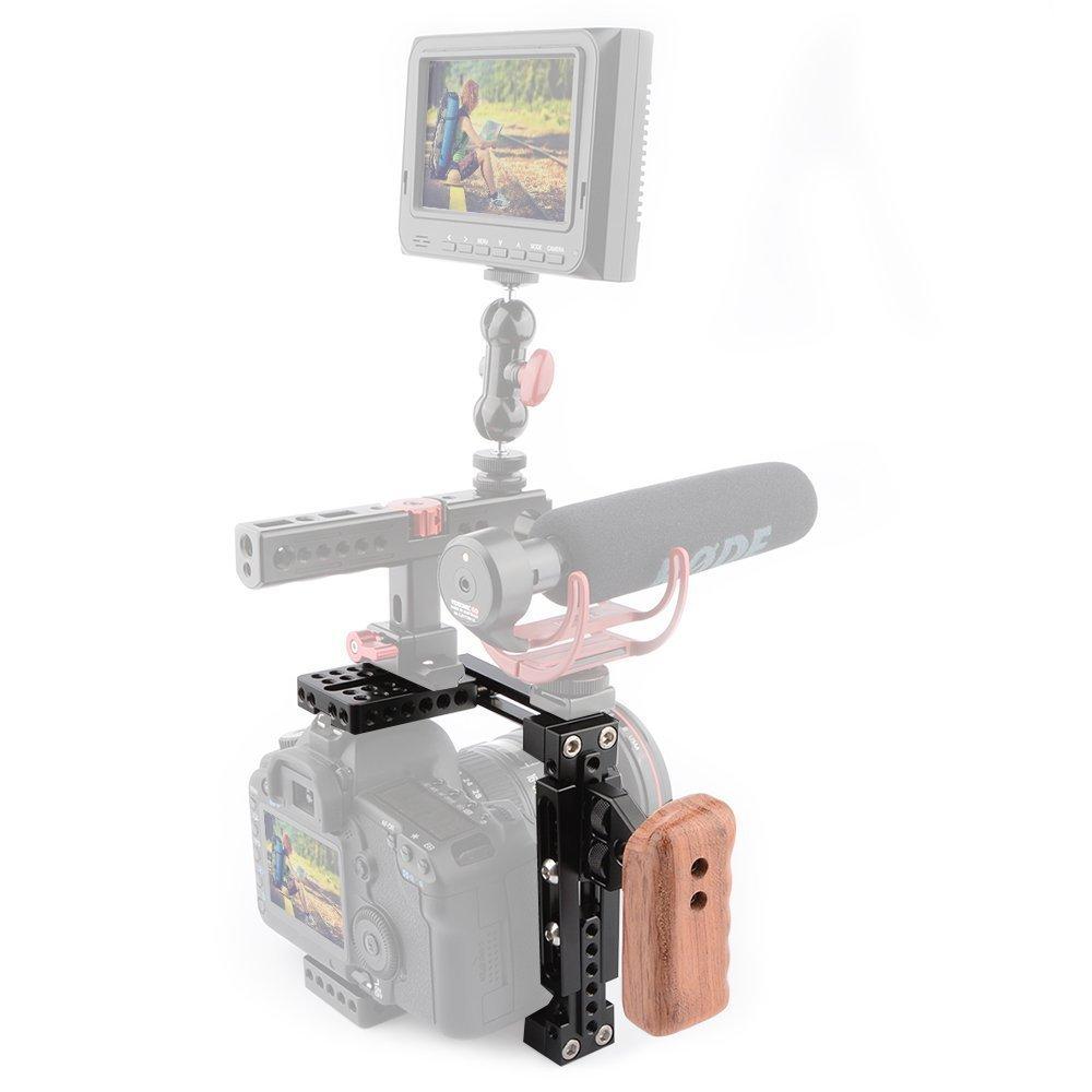 camvate Universal Ajustable Jaula de cámara con empuñadura de ...