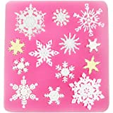 Moldfun 3D Christmas Decorations Snowflake Lace Party DIY Silicone Mold for Fondant Chocolate Candy Gum Paste