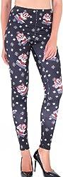 10bb750f0194a CinGr8 Women Winter Xmas Printed Leggings Stretchy Thick Yoga Pants Plus  Size