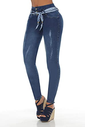 6788f24f95 Image Unavailable. Image not available for. Color  VEROX JEANS Pantalones  Colombianos Levanta Cola Colombian Jeans Levantacola 3411