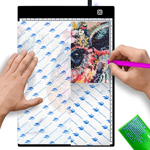 Diamond Painting A4 LED Light Pad Board Tracing Table Light Pad Box 5D Drawing Board for Artists,Drawing,Sketching, Animation, Copy Quilting Tracing 5D Diamond Painting Xray Pad