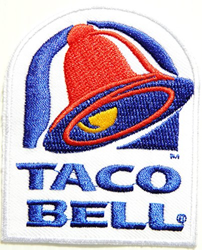 Hot Sauce Costume Taco Bell - TACO BELL Logo Jacket T-shirt Patch Sew Iron on Embroidered Sign Badge Costume Clothing
