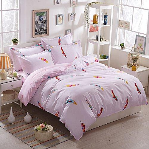 YIweNi Tencel of Four piece set _Aloe tencel cotton mill gross bedding 1.81.5 double m quarters kit, wind dance L,1.8m Four piece set