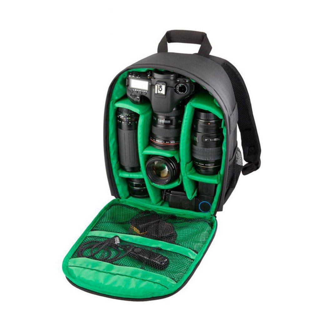 Sac d'appareil Sac à Dos pour Caméra VOSMEP Imperméable Backpack Camera Bag Sac d'épaule en Nylon 33*12.5*26.5 Multi Fonction Anti Choc pour DSLR Canon Nikon Sony EOS Olympus Samsung Pentax SLR Accessoires Fujifilm Voyageant Photographie Noir Orange DC2 DC