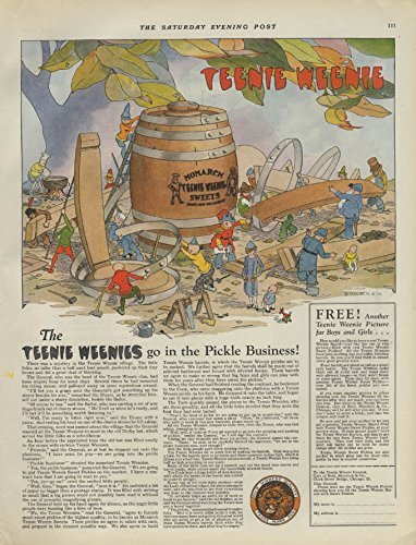 The Teenie Weenies go in the Pickle Business Monarch Foods ad 1925 P by The Jumping Frog