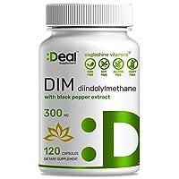 High Absorption DIM 300mg (Diindolylmethane) with Black Pepper Extract, 120 Vegan...