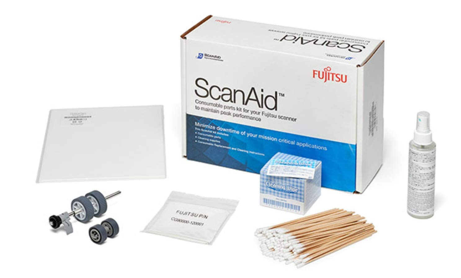 Fujitsu ScanAid Cleaning and Consumable Kit for N7100 and fi-7030