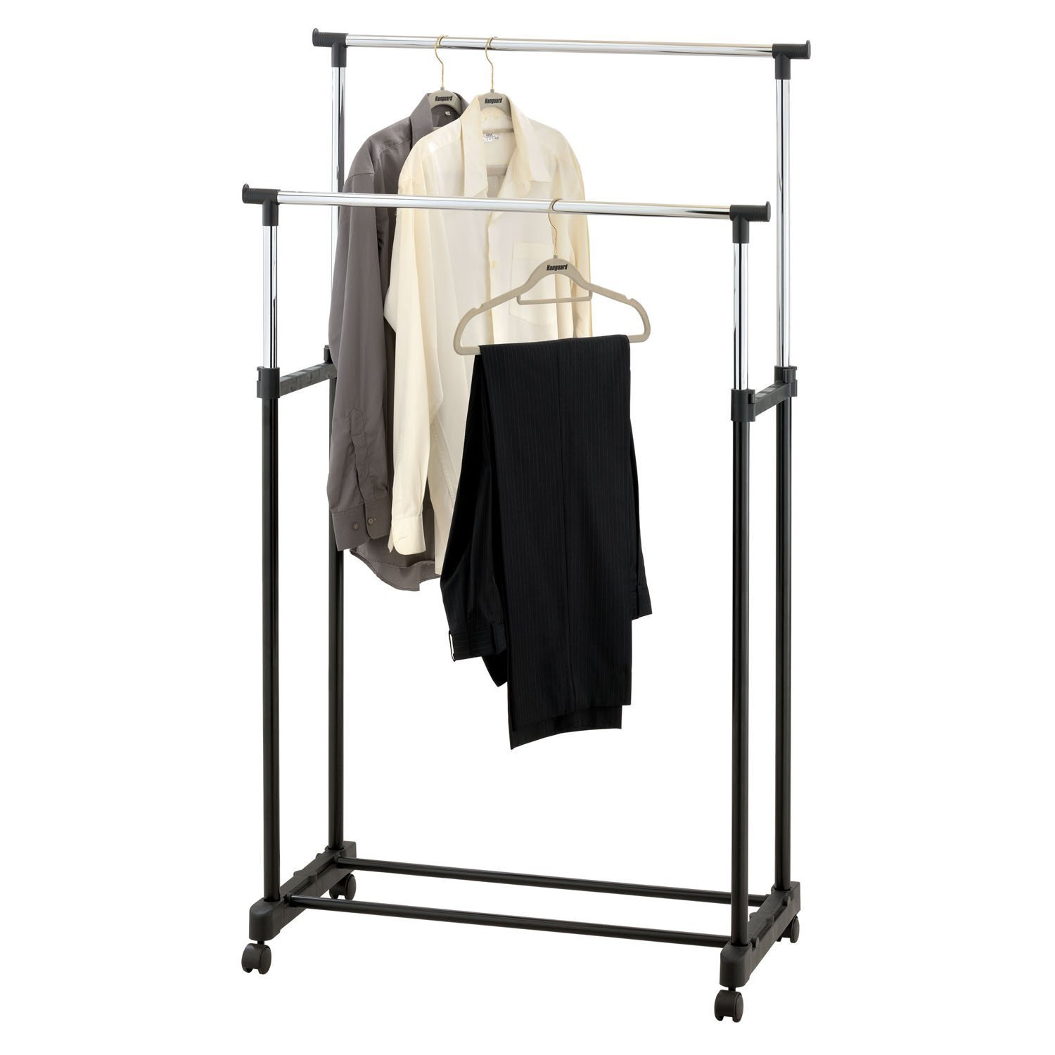 Coat hanging solutions coat hanging solutions home design wall amos double adjustable height garment clothes dress coats jackets sisterspd