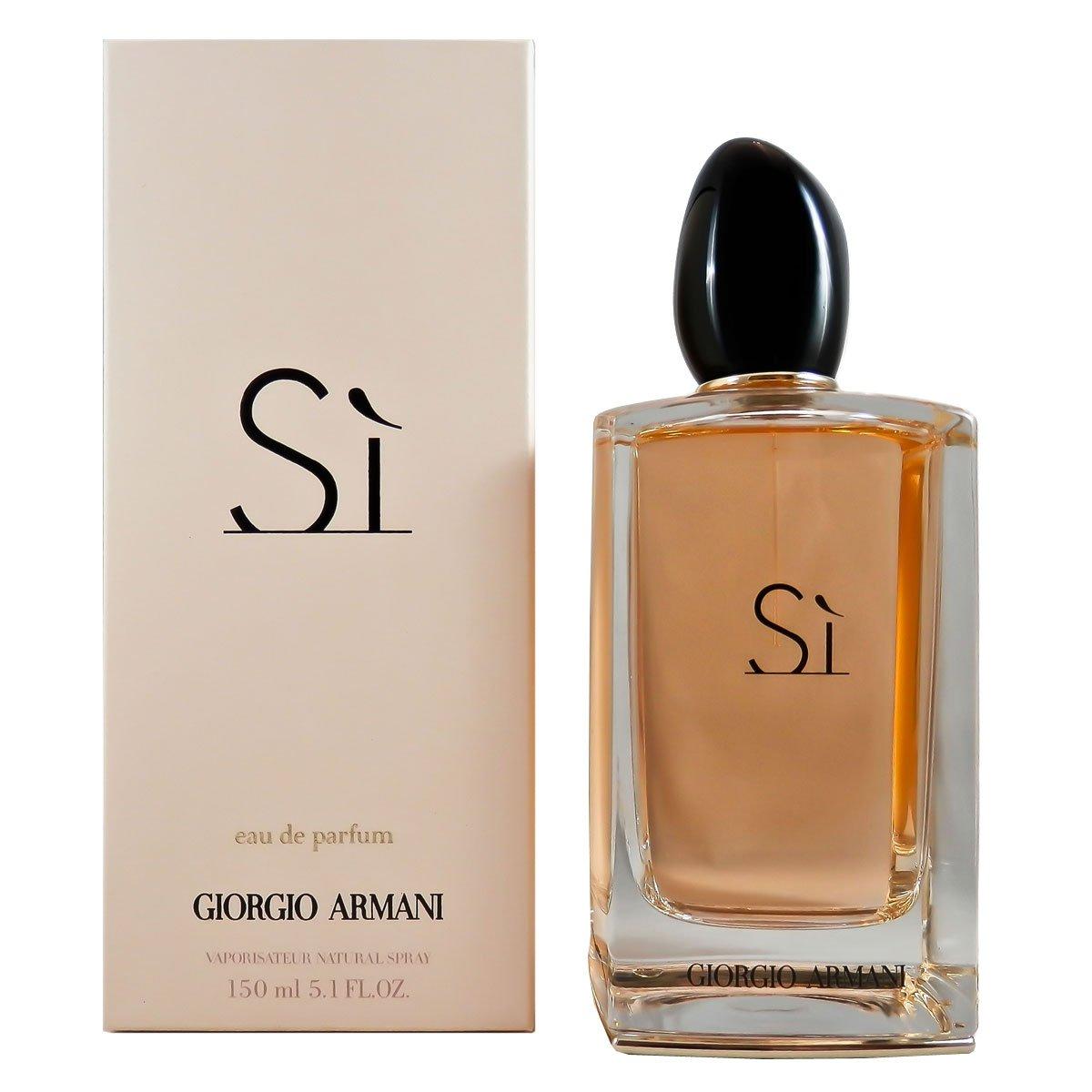 f41772b6 Amazon.com : Giorgio Armani Si Eau De Parfum Spray for Women, 5.1 Ounce :  Beauty