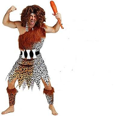 546384e4d221 Amazon.com: Mocona Adult man, primitive man, Indian leopard, savage Costume:  Clothing