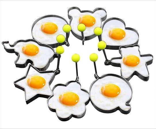 petit d/éjeuner sandwich Lot de 4 moules en silicone pour /œufs au plat pancakes