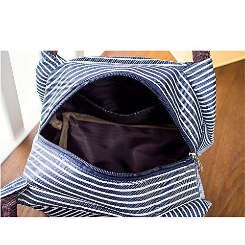Bolsa de Almuerzo, 2Piezas Sky Castle Bolsa De Pañales Mini- Bolsas Térmicas - Compras Bolso For Mujer/Niño/Estudiante Azul&Marron