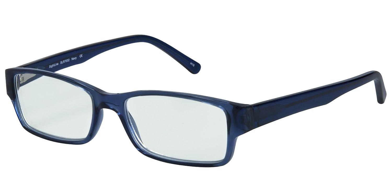 8dc2aec2c1a58d Full-Rim Designer Frame With Progressive Magnification Anti-Glare Coated  Lenses (2.00, Navy)  Health   Personal Care