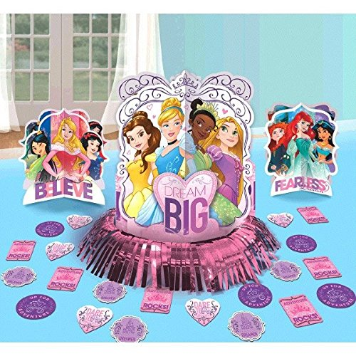 Disney Princess Dream Big Party Table Decorations Kit ( Centerpiece Kit ) 23 PCS - Kids Birthday and Party Supplies - Centerpiece Kit