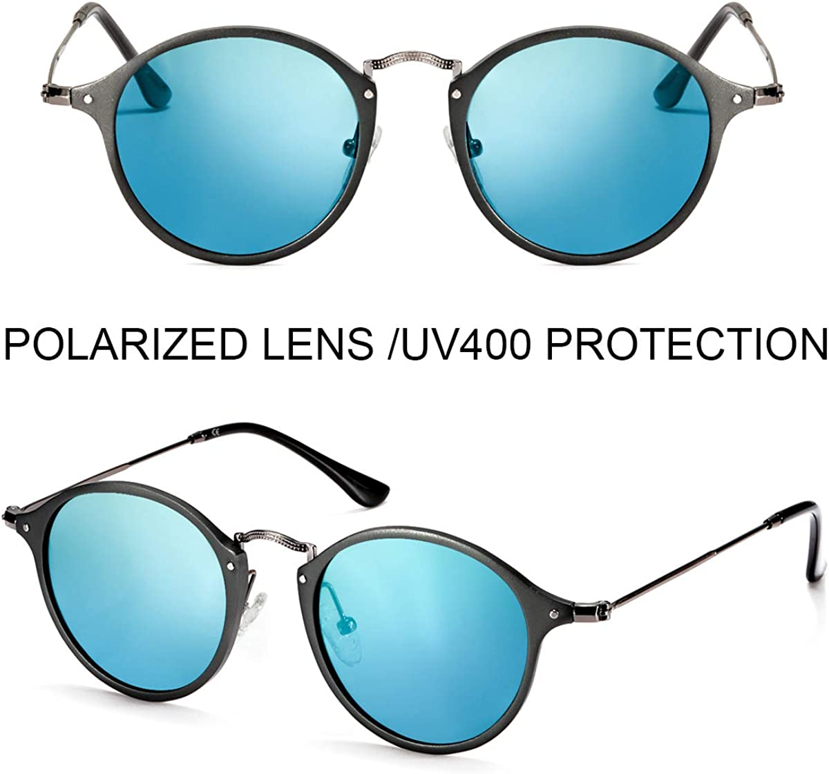 ELIVWR Katzenaugen Schwarz Sonnenbrille Polarisierte f/ür Damen 100/% Schutz vor Sch/ädlichen UVA//UVB Strahlen