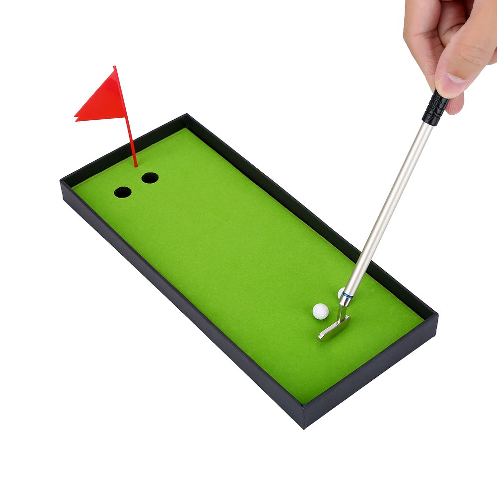 Golf Pen Set, Mini Golf Balls Toy Desktop Golf Gift set includes Putting Green,Flag,3 Golf Clubs Pens & 2 Balls by VGEBY (Image #9)