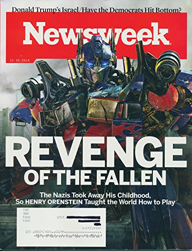 NEWSWEEK Magazine December 30 2016 Cover Story: REVENGE OF THE FALLEN The Nazis Took Away His Childhood, so HENRY ORNSTEIN Taught the World How to Play