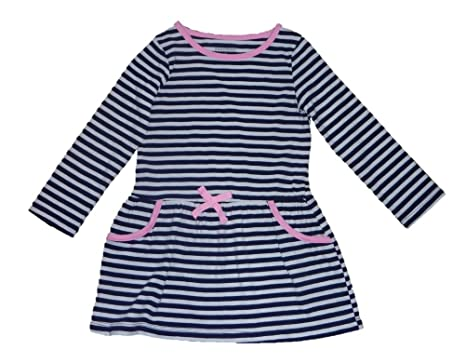 c276b7b298bb Amazon.com  Healthtex Toddler Girls Long-Sleeve Knit Dress- Navy ...