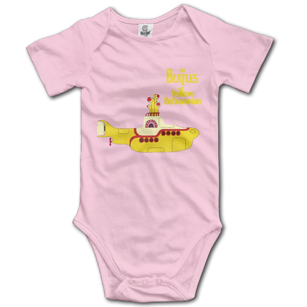 Baby Boys Girls Short Sleeve The Beatles Yellow Submarine Funny Bobysuit Onesie