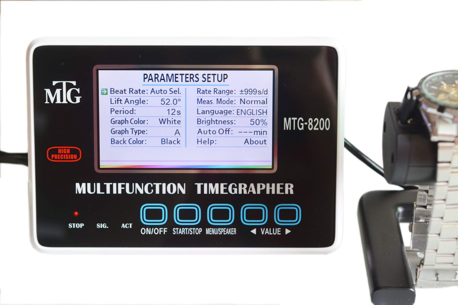 Mechanical Tester Timing Multifunction Timegrapher MTG-8200 Touch Button