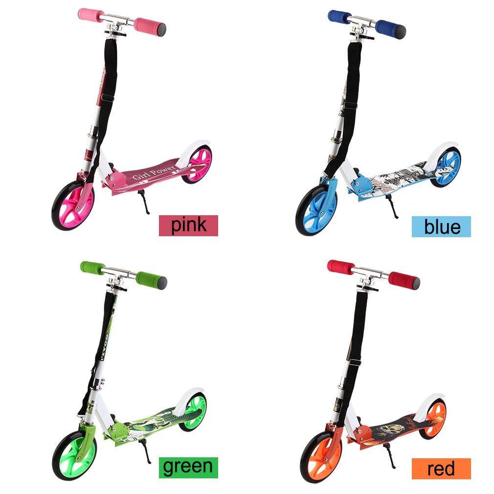 Alter-C-DJ 205mm Big Wheel Scooter City-Roller klappbar und h/öhenverstellbar Erwachsene-Tret-Roller Rosa