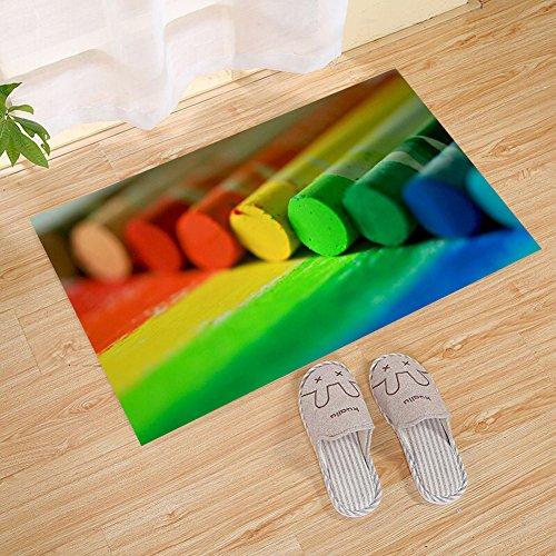 JANNINSE Colorful Stripes Chalk Watercolor Decorative Image