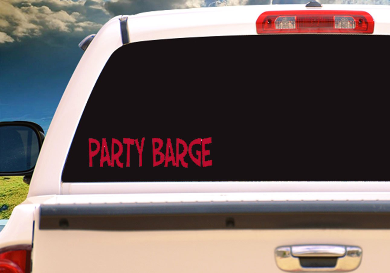 Perfect Cooler Accessory Funny Boating Bumper Sticker WickedGoodz Die Cut Red Party Barge Boat Vinyl Decal Transfer