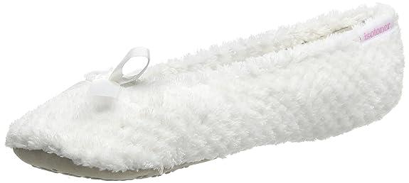 Muy Barato Venta Barata Explorar Isotoner IsotonerPopcorn Terry Ballet - Pantofole Donna amazon-shoes bianco uhgtdocb