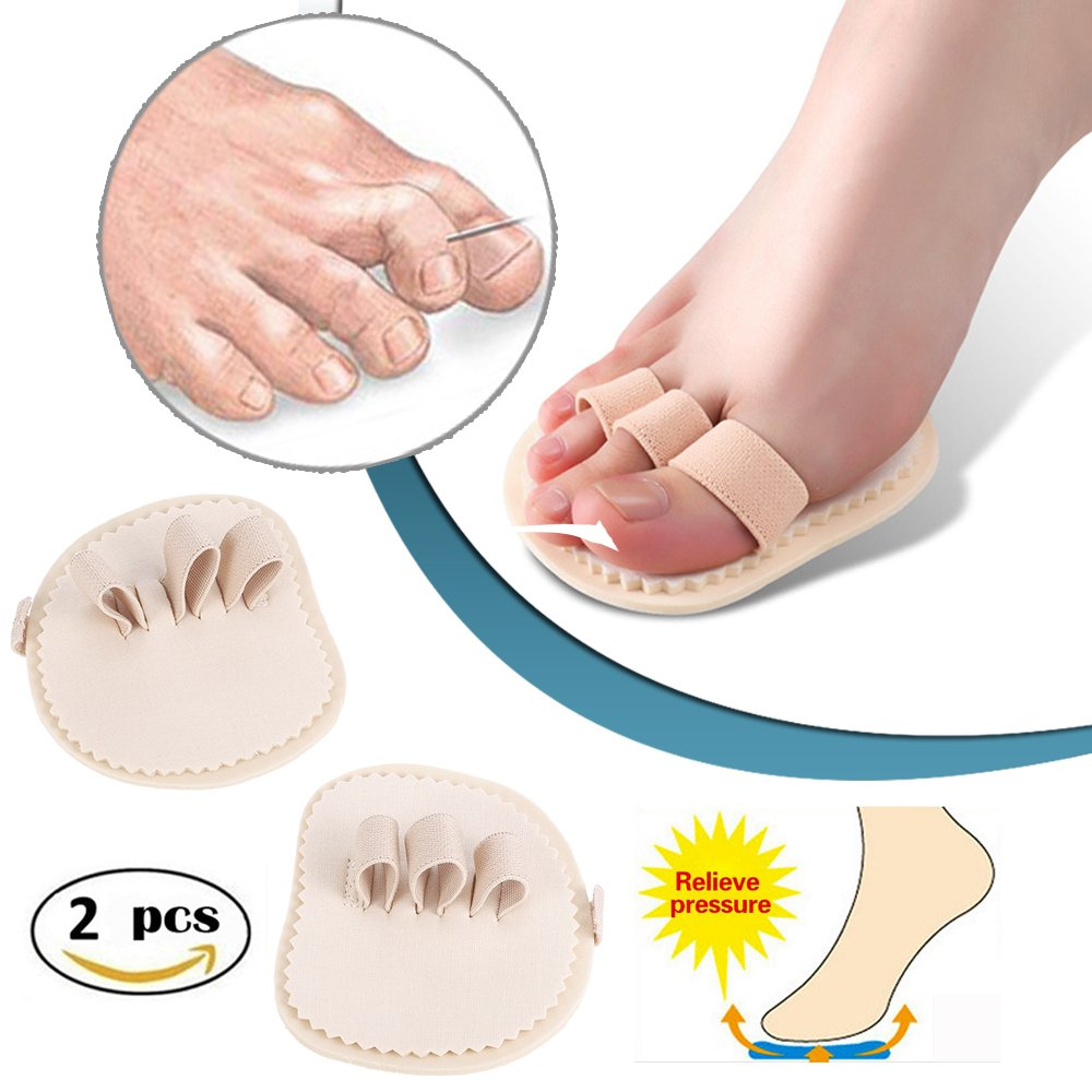 1 Paris Big Toes Bunion Protector Pads, Thumb Claw Straightener Splint, Crooked Overlapping Toes Separator Cushions, Hammer Toe Pain Relief Corrector, for Hallux Valgus Corns Blister Callus (3 Toes) XEMZ