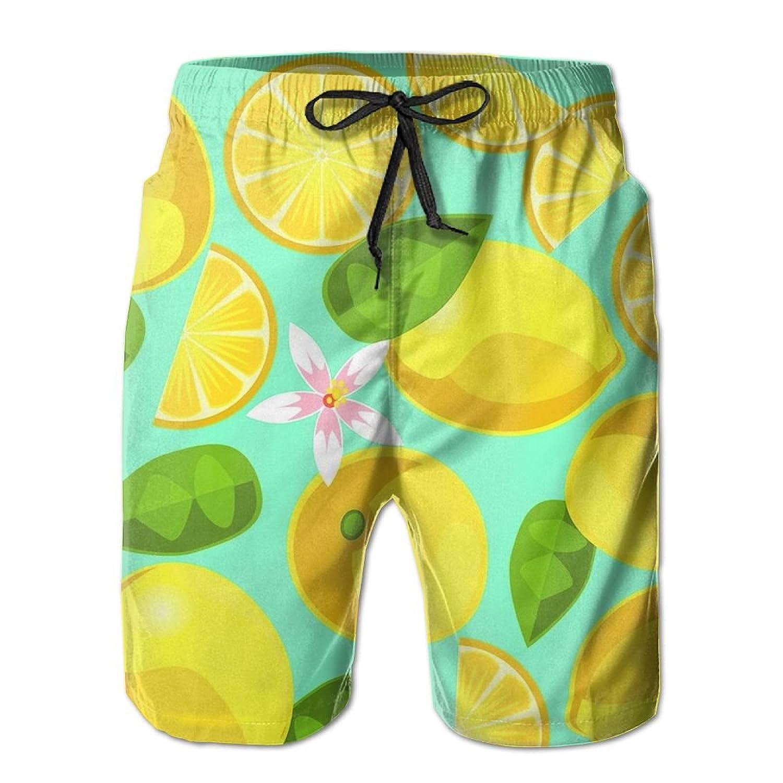 19e7c5fc562b best Boys Swim Trunks Lemon Flower Leaf Quick Dry Beach Board Shorts ...