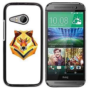 YiPhone /// Prima de resorte delgada de la cubierta del caso de Shell Armor - Minimalist Polygon Wolf - HTC ONE MINI 2 / M8 MINI