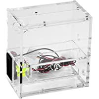 Zjchao Computer Cooling Reservoir PC Liquid Water Cooling Reservoir Dual CD Driver Tank with Dial Thermometer Flow Meter
