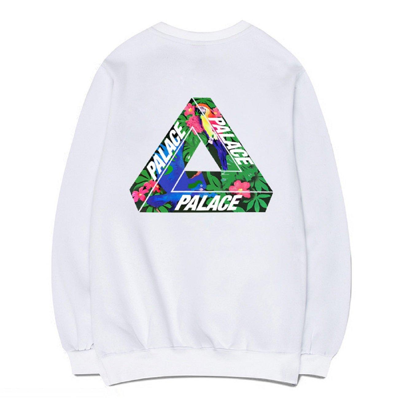 550543061655 CORIRESHA Fashion Floral Triangle Print Long Sleeve Fleece Sweatshirt at  Amazon Women s Clothing store