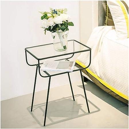 Qyjpb Fer Carre Table De Chevet Decoration De Maison Table Basse