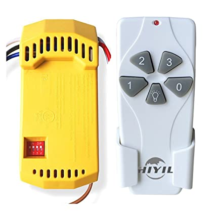 HiYill HD6 Universal Handhold Ceiling Fan Remote Control And Receiver  Complete Kit With Up Down Light