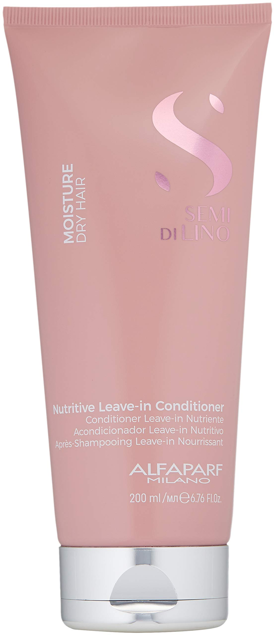 Alfaparf Milano Semi Di Lino Moisture Nutritive Leave-in Sulfate Free Conditioner for Dry Hair - Professional Salon Quality - SLS, Paraben and Paraffin Free - Safe on Color Treated Hair by Alfaparf Milano